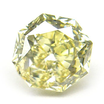 View 1.07 ct. Octagonal Fancy Yellow