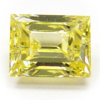View 0.84 ct. Emerald Cut Fancy Intense Yellow