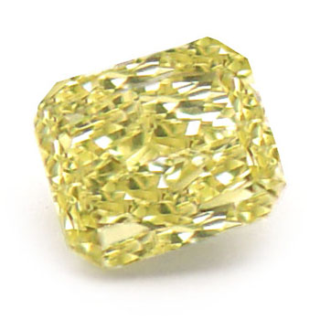 View 0.59 ct. Radiant Fancy Intense Yellow