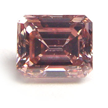 View 0.59 ct. Emerald Cut Fancy Intense o. Pink