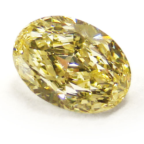 View 0.76 ct. Oval Fancy Yellow