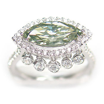 View 1.59ct Fancy G. Green Ring