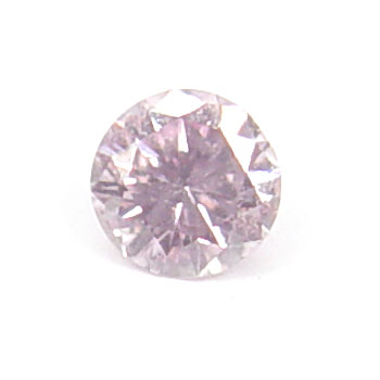 View 0.14 ct. Round Fancy Purplish Pink