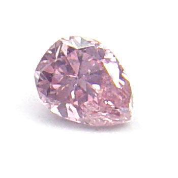 View 0.07 ct. Pear Shape Fancy Vivid Pink