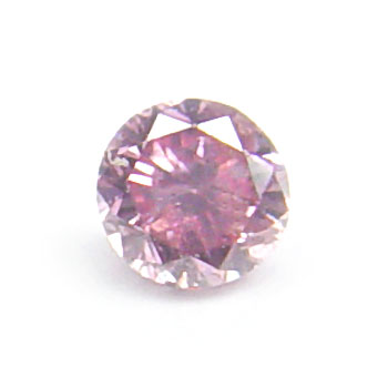 View 0.07 ct. Round Fancy Vivid Pink