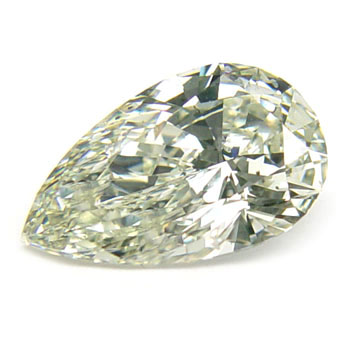 View 2.02 ct. Pear Shape Light Yellow Green