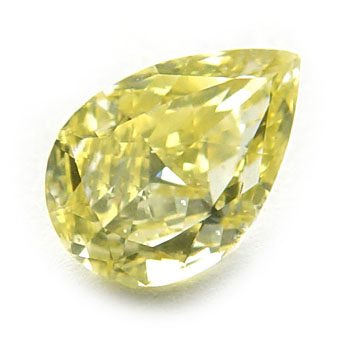 View 0.74 ct. Pear Shape Fancy Intense Yellow