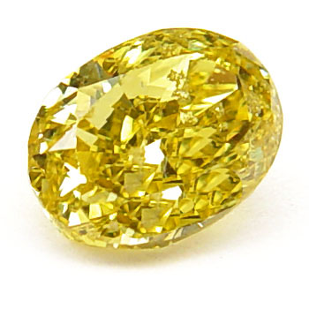View 0.78 ct. Oval Fancy Vivid Yellow