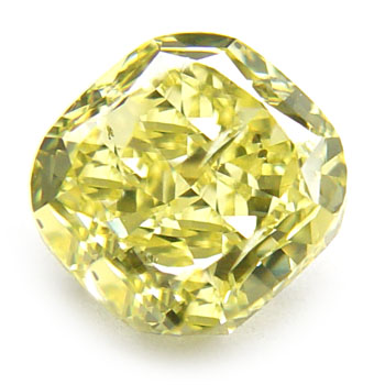 View 1.73 ct. Cushion Fancy Intense Yellow