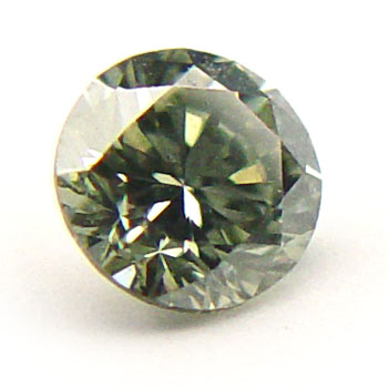 View 0.44 ct. Round Fancy g. y. Green (Chameleon)