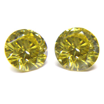 View 2.49 ct. Round Fancy Deep b. Yellow (Pair)