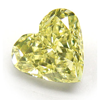 View 1 ct. Heart Shape Fancy Yellow