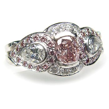 View .66ct Fancy Pink Ring