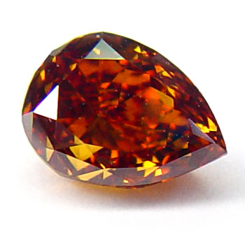View 0.62 ct. Pear Shape Fancy Deep Reddish Orange