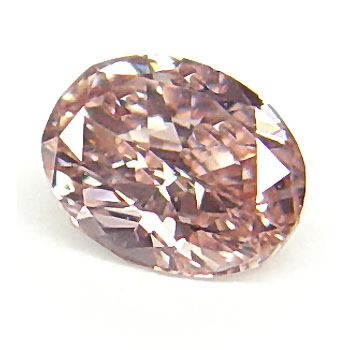 View 0.29 ct. Oval Fancy Intense o. Pink