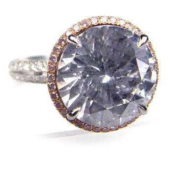 View 6.47 ct. Round Fancy Bluish Gray