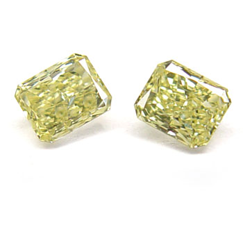 View 0.61 ct. Radiant Fancy Intense Yellow (Pair)