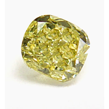 View 0.35 ct. Cushion Fancy Intense Yellow