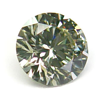 View 0.65 ct. Round Fancy Greenish Y. Gray Chameleon