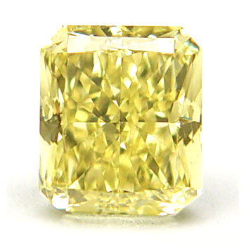 View 0.95 ct. Radiant Fancy Intense Yellow
