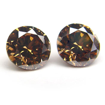 View 1.74 ct. Round Fancy Dark Orangy Brown