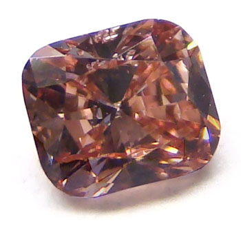 View 0.33 ct. Cushion Fancy brownish Pink