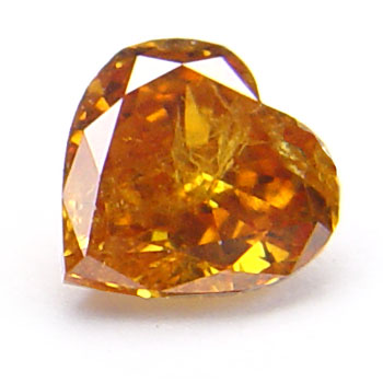 View 0.49 ct. Heart Shape Fancy Vivid Y. Orange