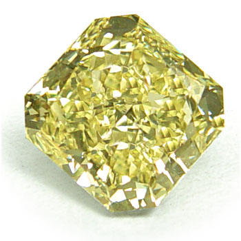 View 3.46 ct. Radiant Fancy Yellow