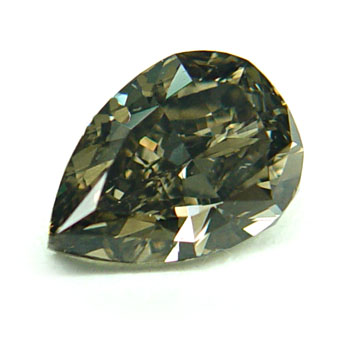 View 1.59 ct. Pear Shape Fancy Dark Gray-Greenish Yellow