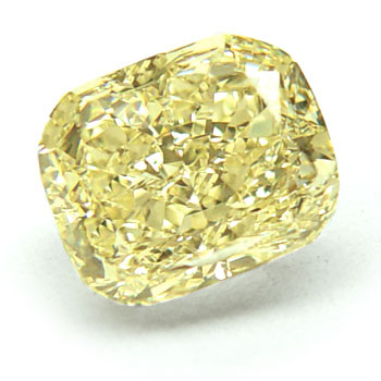 View 3.02 ct. Cushion Fancy L. Yellow