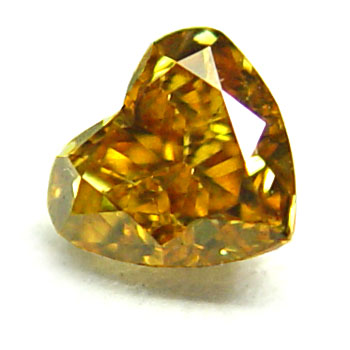 View 0.45 ct. Heart Shape Fancy Deep Y. Orange