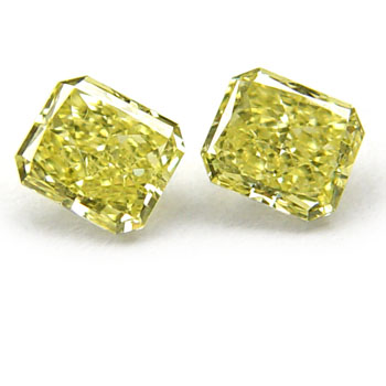 View 0.62 ct. Radiant Fancy Intense Yellow