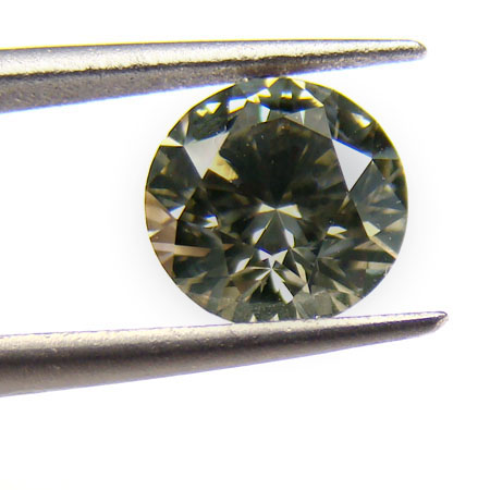 View 1.2 ct. Round Fancy Dark Greenish Gray
