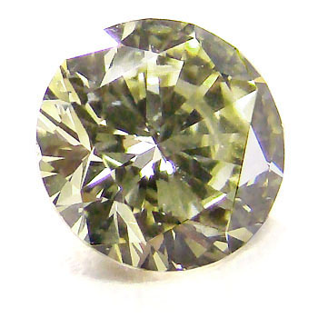 View 1.47 ct. Round Fancy Gray Greenish-Yellow