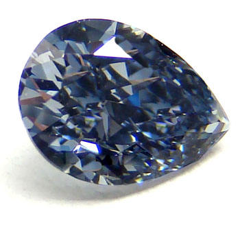 View 0.49 ct. Pear Shape Fancy Dark Gray-BLUE