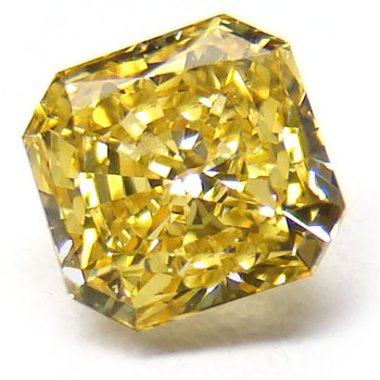 View 0.81 ct. Radiant Fancy Vivid Yellow