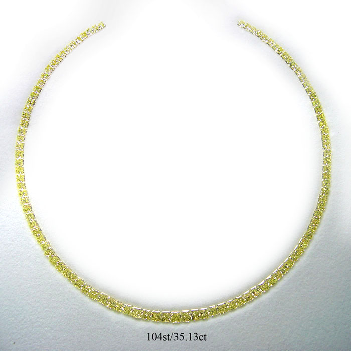 View Fancy Yellow Diamonds Necklace
