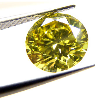 View 2.1 ct. Round Fancy DEEP g. Yellow