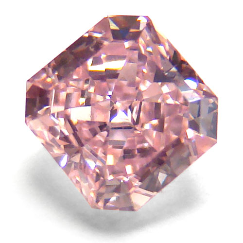 View 0.93 ct. Radiant Fancy INTENSE Pink (VVS2)