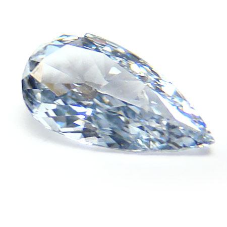 View 0.23 ct. Pear Shape Fancy Light Blue