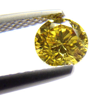 View 0.8 ct. Round Fancy DEEP Yellow