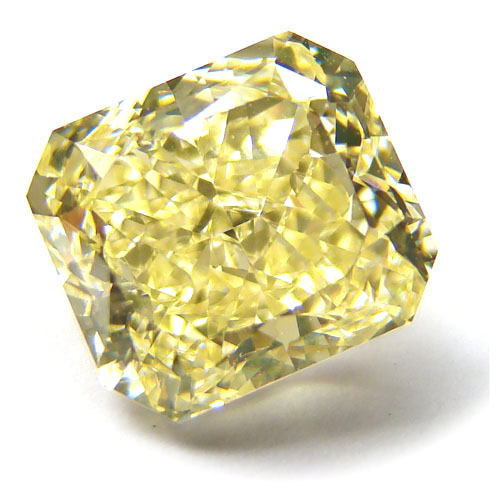 View 3.41 ct. Radiant Fancy Yellow