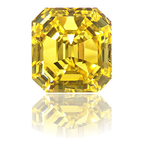 View 2.13 ct. Emerald Cut Fancy VIVID Yellow (Flawless)