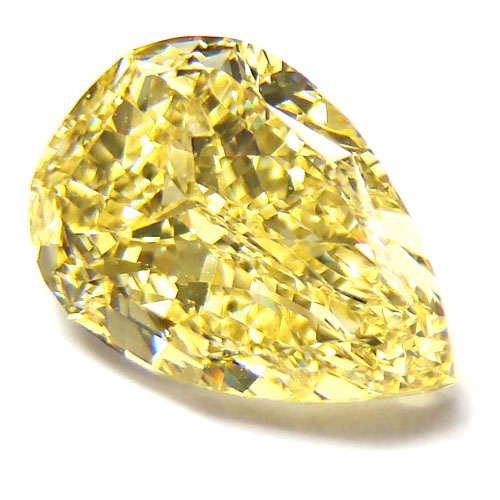 View 2.37 ct. Pear Shape Fancy Intense Yellow (Flawless)