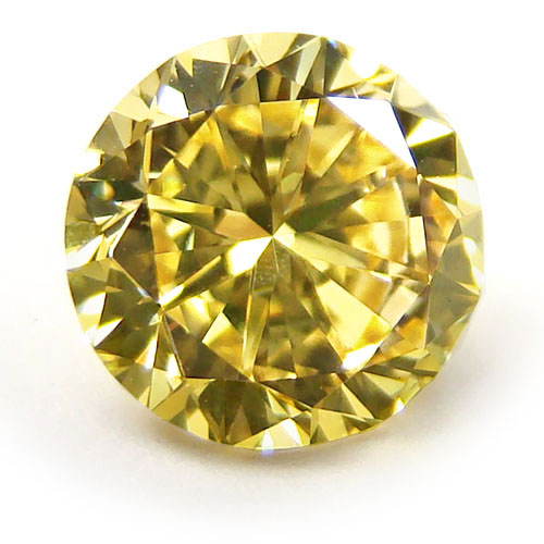 View 3.01 ct. Round Fancy Intense Yellow (Flawless)