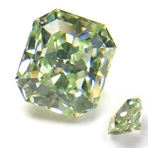 View 0.7 ct. Radiant Fancy Intense Green