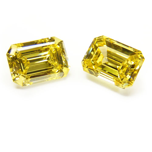 2.33 Emerald Cut Fancy Vivid Yellow (Flawless/VS2)