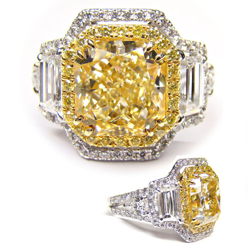 View 5.14 ct. Radiant Fancy Yellow