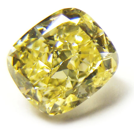 View 1.63 ct. Cushion Fancy Yellow (Flawless)