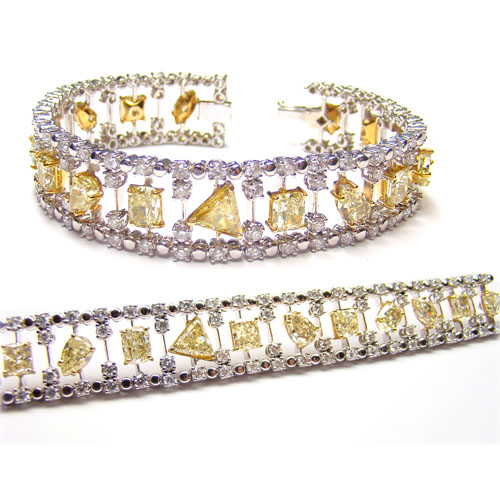 View Yellow Diamond Bracelet